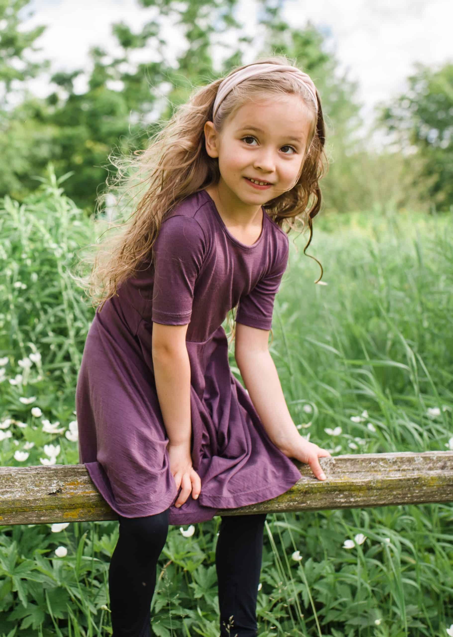 A girl in Ellie&Anders clothing